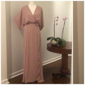 Killer Gianni Bini Dusty Rose Floor Length Gown